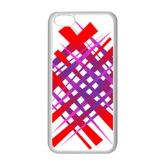 Chaos Bright Gradient Red Blue Apple Iphone 5c Seamless Case (white)