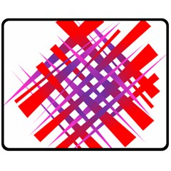Chaos Bright Gradient Red Blue Double Sided Fleece Blanket (medium)