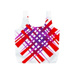 Chaos Bright Gradient Red Blue Full Print Recycle Bags (s)