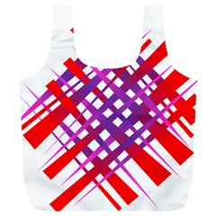 Chaos Bright Gradient Red Blue Full Print Recycle Bags (L)