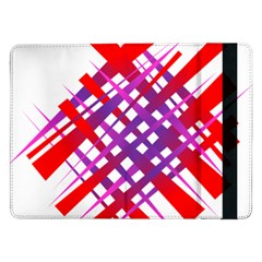 Chaos Bright Gradient Red Blue Samsung Galaxy Tab Pro 12.2  Flip Case