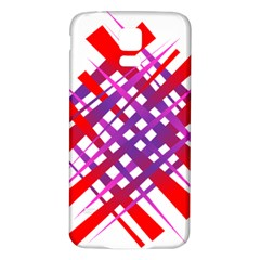Chaos Bright Gradient Red Blue Samsung Galaxy S5 Back Case (White)