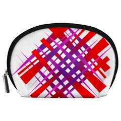 Chaos Bright Gradient Red Blue Accessory Pouches (large)
