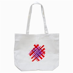 Chaos Bright Gradient Red Blue Tote Bag (White)