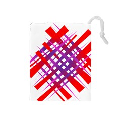 Chaos Bright Gradient Red Blue Drawstring Pouches (Medium)