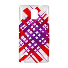 Chaos Bright Gradient Red Blue Samsung Galaxy Note 4 Hardshell Case