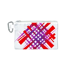 Chaos Bright Gradient Red Blue Canvas Cosmetic Bag (s)