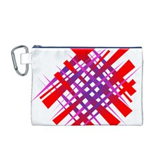 Chaos Bright Gradient Red Blue Canvas Cosmetic Bag (m)