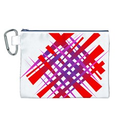 Chaos Bright Gradient Red Blue Canvas Cosmetic Bag (l)
