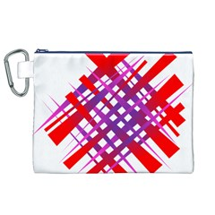 Chaos Bright Gradient Red Blue Canvas Cosmetic Bag (xl)