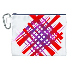 Chaos Bright Gradient Red Blue Canvas Cosmetic Bag (XXL)