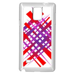 Chaos Bright Gradient Red Blue Samsung Galaxy Note 4 Case (white)