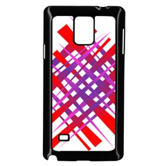 Chaos Bright Gradient Red Blue Samsung Galaxy Note 4 Case (Black)