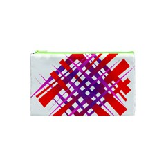 Chaos Bright Gradient Red Blue Cosmetic Bag (xs)