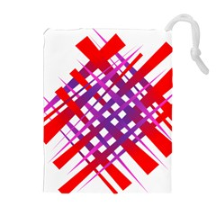 Chaos Bright Gradient Red Blue Drawstring Pouches (Extra Large)