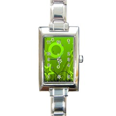 Art About Ball Abstract Colorful Rectangle Italian Charm Watch