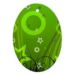 Art About Ball Abstract Colorful Ornament (oval)