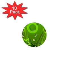 Art About Ball Abstract Colorful 1  Mini Buttons (10 pack)