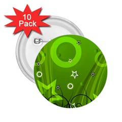 Art About Ball Abstract Colorful 2.25  Buttons (10 pack)