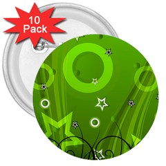 Art About Ball Abstract Colorful 3  Buttons (10 Pack)