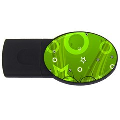 Art About Ball Abstract Colorful USB Flash Drive Oval (1 GB)