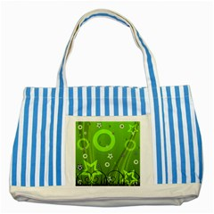Art About Ball Abstract Colorful Striped Blue Tote Bag