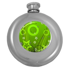 Art About Ball Abstract Colorful Round Hip Flask (5 oz)