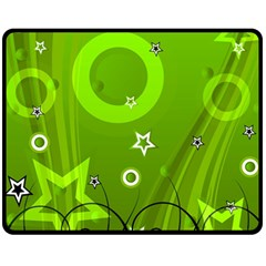 Art About Ball Abstract Colorful Fleece Blanket (medium)