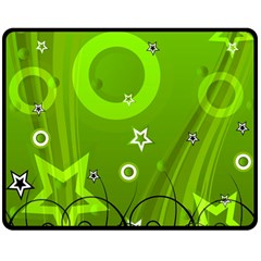 Art About Ball Abstract Colorful Double Sided Fleece Blanket (Medium)