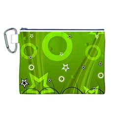 Art About Ball Abstract Colorful Canvas Cosmetic Bag (L)