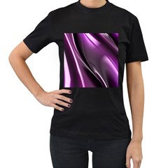 Fractal Mathematics Abstract Women s T Shirt (black) (two Sided)