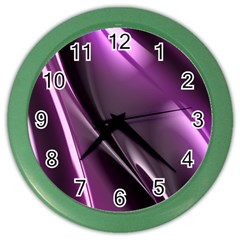 Fractal Mathematics Abstract Color Wall Clocks