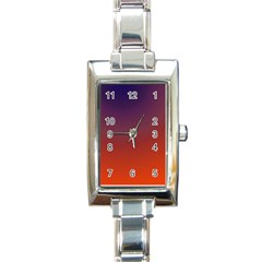 Course Colorful Pattern Abstract Rectangle Italian Charm Watch