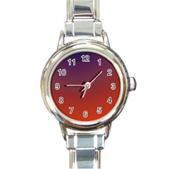 Course Colorful Pattern Abstract Round Italian Charm Watch