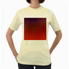 Course Colorful Pattern Abstract Women s Yellow T-Shirt