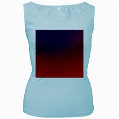 Course Colorful Pattern Abstract Women s Baby Blue Tank Top
