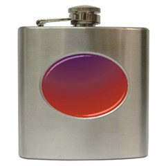 Course Colorful Pattern Abstract Hip Flask (6 oz)