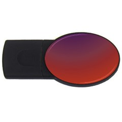 Course Colorful Pattern Abstract USB Flash Drive Oval (1 GB)
