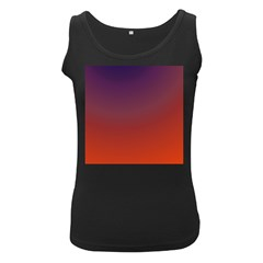 Course Colorful Pattern Abstract Women s Black Tank Top
