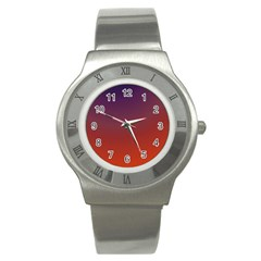 Course Colorful Pattern Abstract Stainless Steel Watch