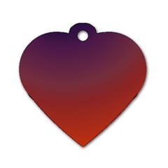 Course Colorful Pattern Abstract Dog Tag Heart (two Sides)