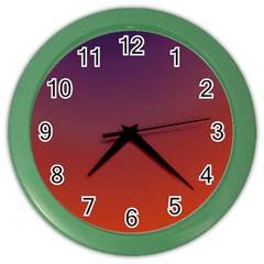 Course Colorful Pattern Abstract Color Wall Clocks
