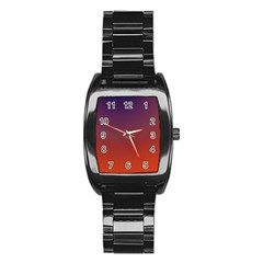 Course Colorful Pattern Abstract Stainless Steel Barrel Watch