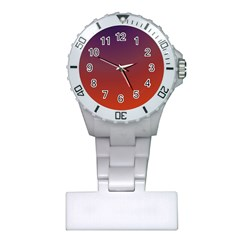 Course Colorful Pattern Abstract Plastic Nurses Watch