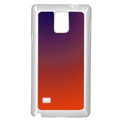 Course Colorful Pattern Abstract Samsung Galaxy Note 4 Case (White)