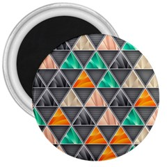 Abstract Geometric Triangle Shape 3  Magnets