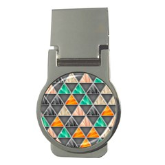 Abstract Geometric Triangle Shape Money Clips (Round)