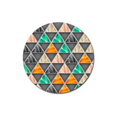 Abstract Geometric Triangle Shape Magnet 3  (round)