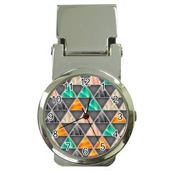 Abstract Geometric Triangle Shape Money Clip Watches
