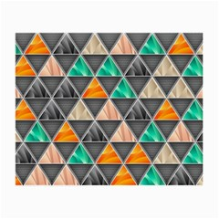 Abstract Geometric Triangle Shape Small Glasses Cloth (2-Side)